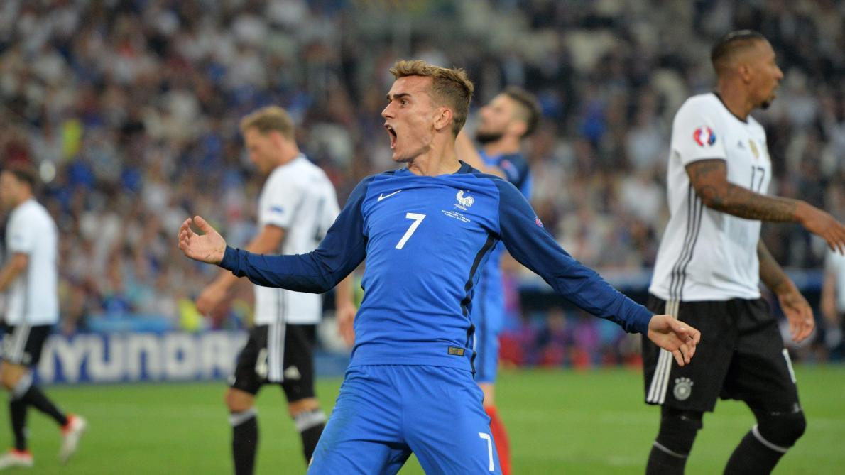 Image result for griezmann france allemagne demi finale penalty