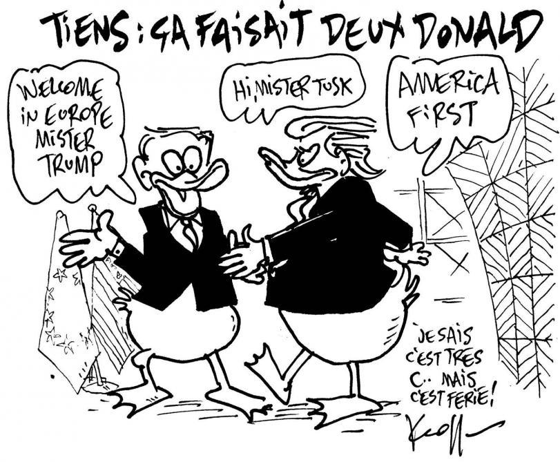 Le Kroll du jour: la rencontre des «Donald» à Bruxelles