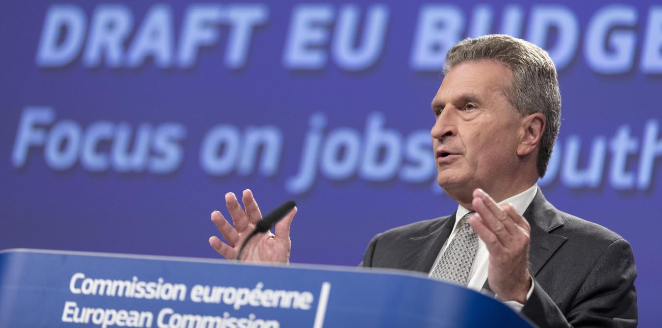 Gunther Oettinger, commissaire au budget. ©PhotoNews