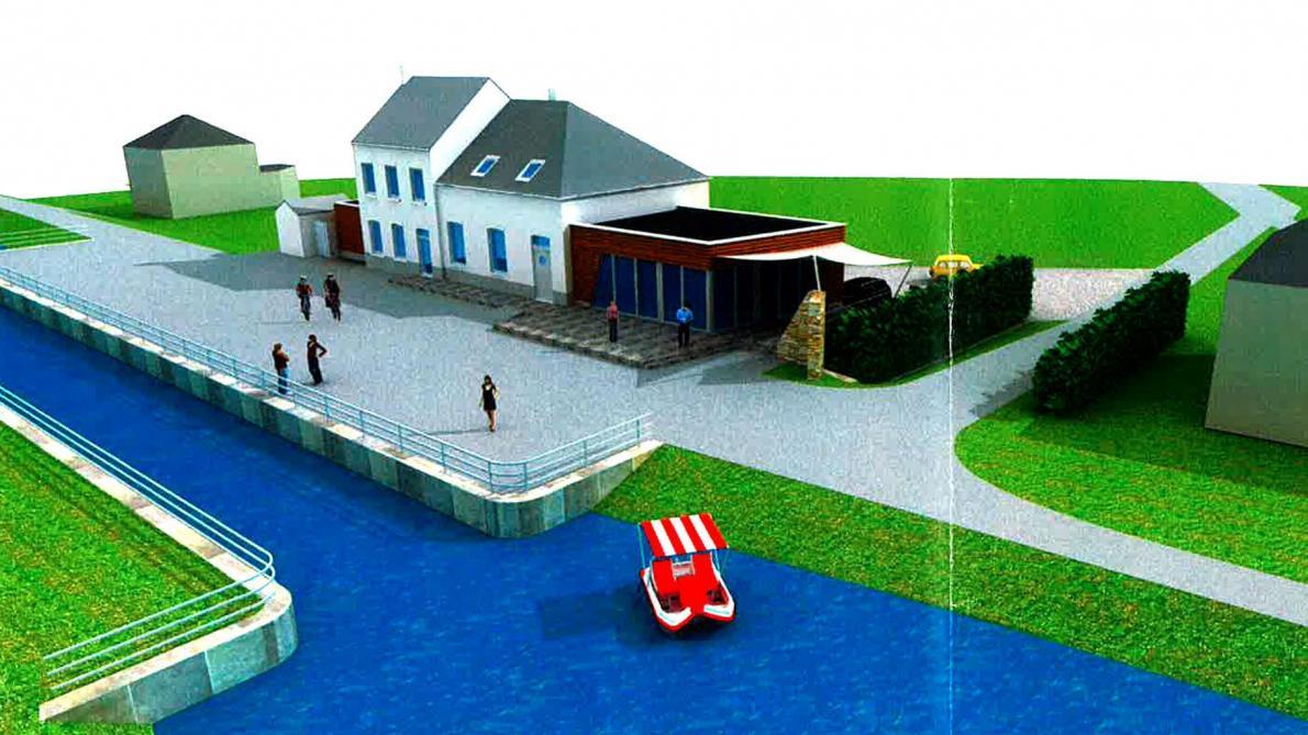 La maison du canal agrandie le soir plus for Projet d extension maison