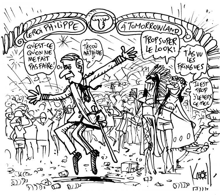 Le Kroll Du Jour Le Roi Philippe A Tomorrowland Le Soir Plus