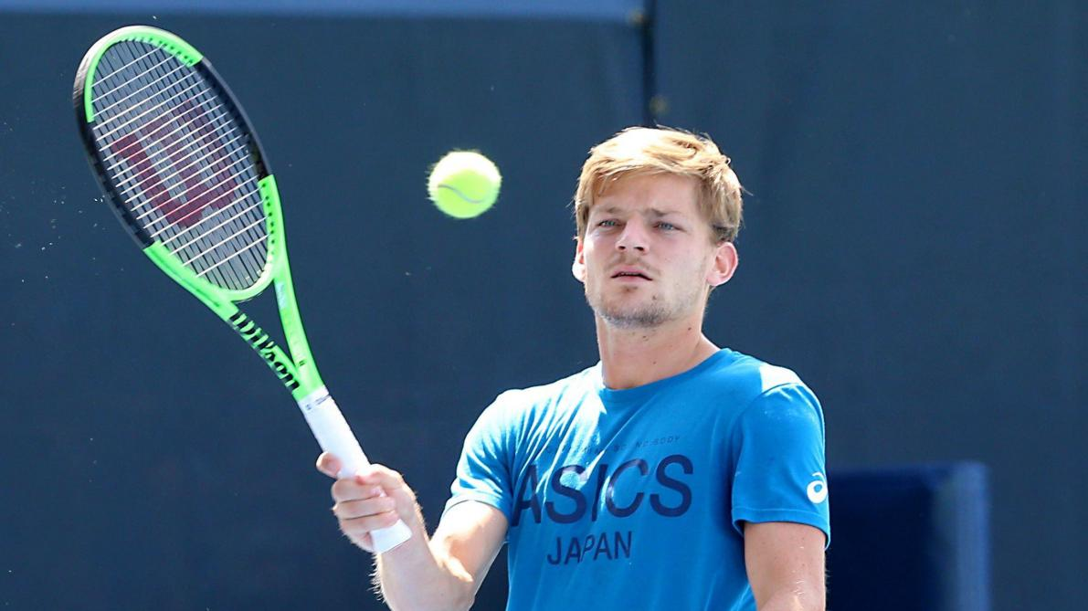 David Goffin pendant son entrainement. ©PhotoNews