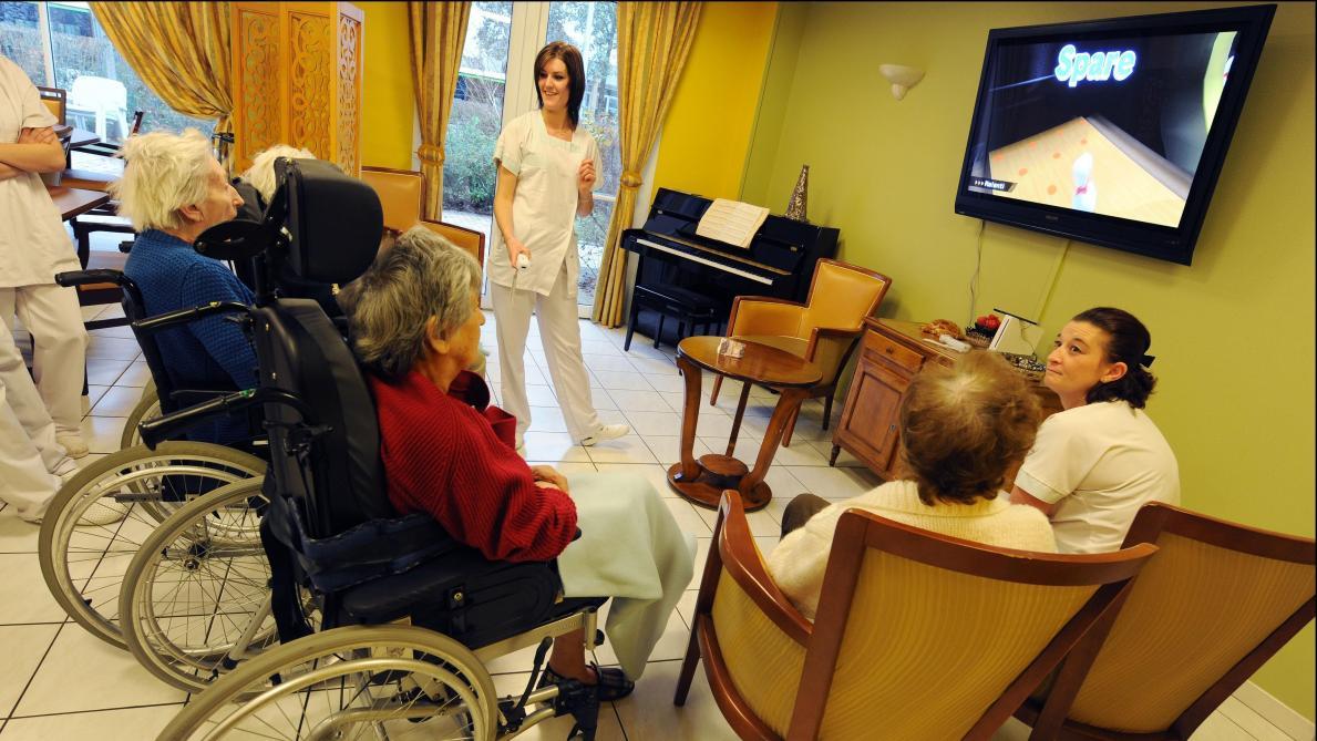Il faut plus de 10 soignants pour 30 résidents. © Photo News.