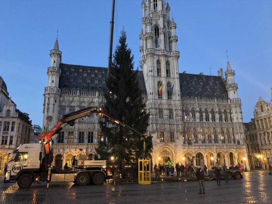 sapin noel bruxelles 2018 Le sapin de Noël installé sur la Grand Place de Bruxelles (photos  sapin noel bruxelles 2018