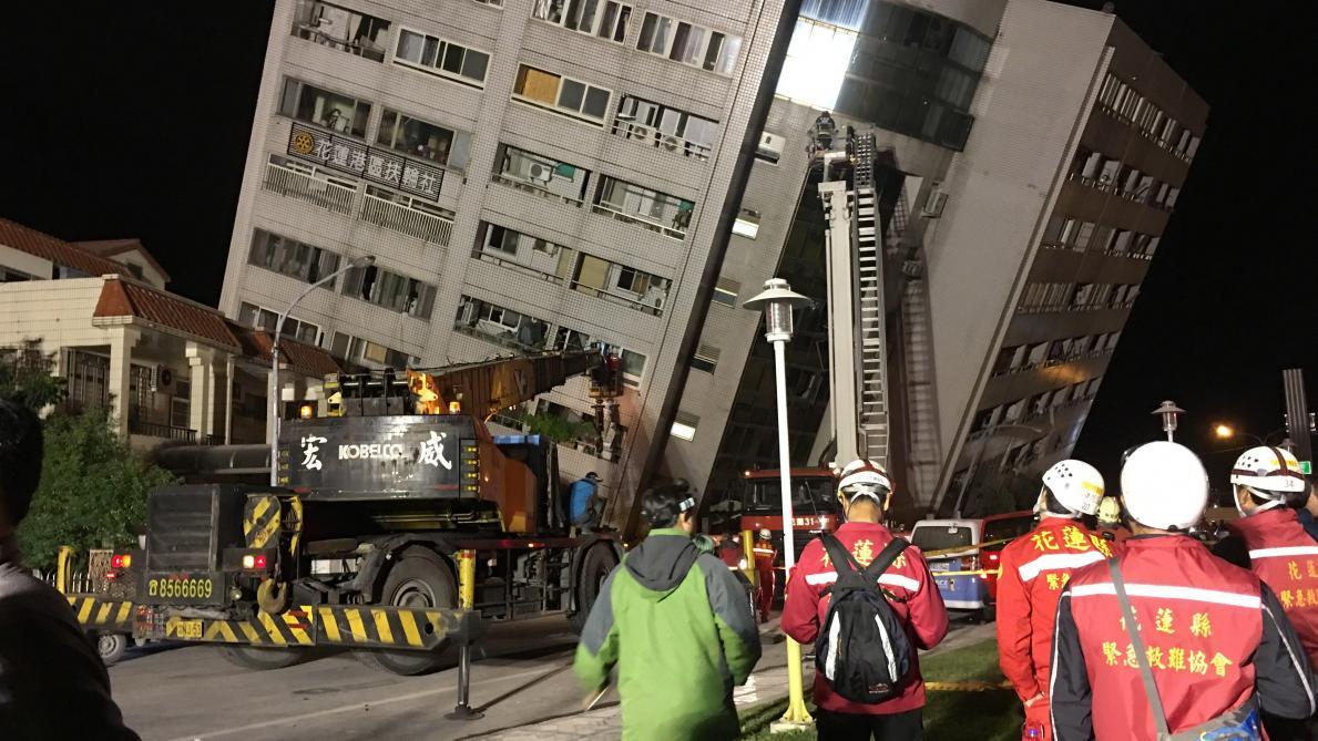 Taïwan : un séisme de magnitude 6,4 secoue la ville