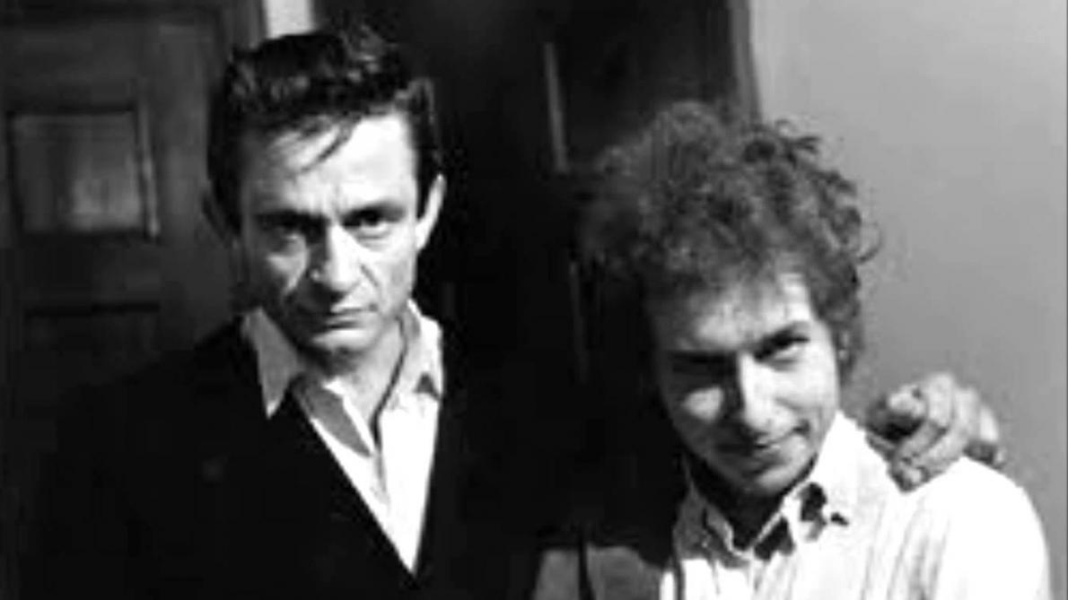 Johnny Cash et Bob Dylan.