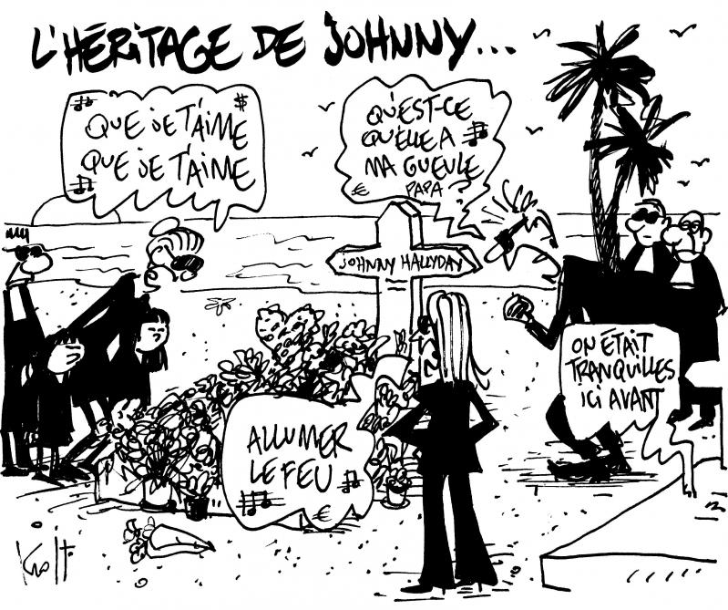 Le Kroll Du Jour L Heritage De Johnny Hallyday Le Soir Plus