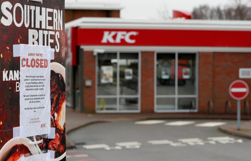 GB: KFC ferme les deux-tiers de ses restaurants