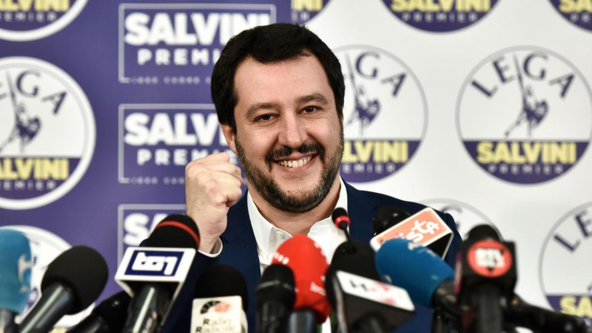 Matteo Salvini, le leader du parti extremiste La Ligue ©AFP