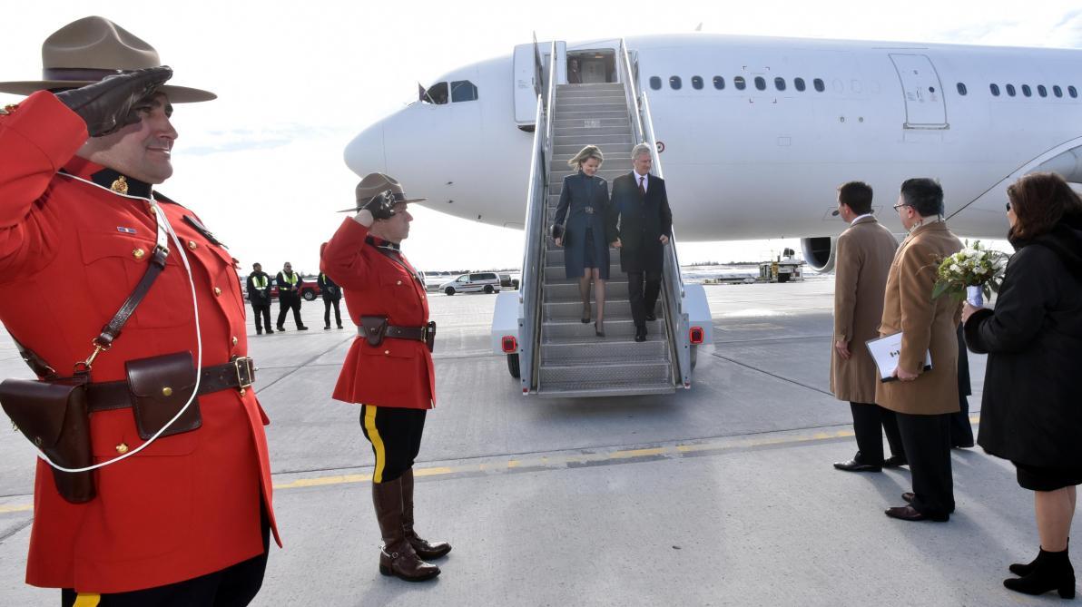 Un drapeau allemand pour accueillir le roi des Belges — Canada