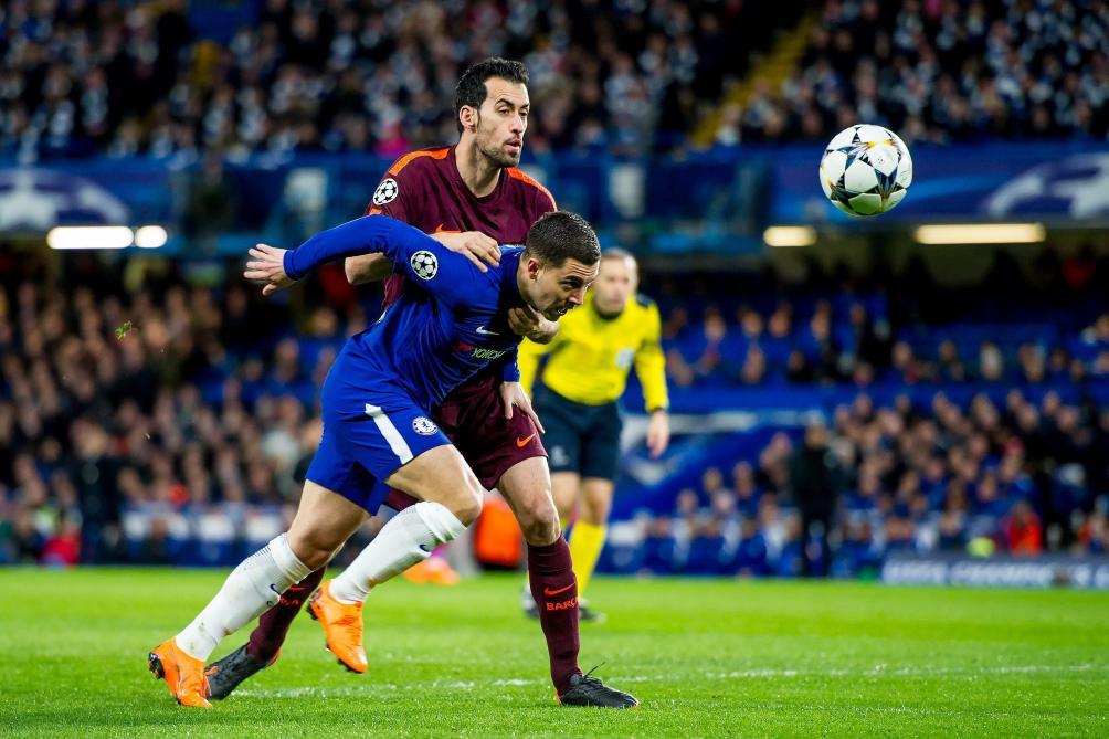 Giroud y croit face au Barça — Chelsea