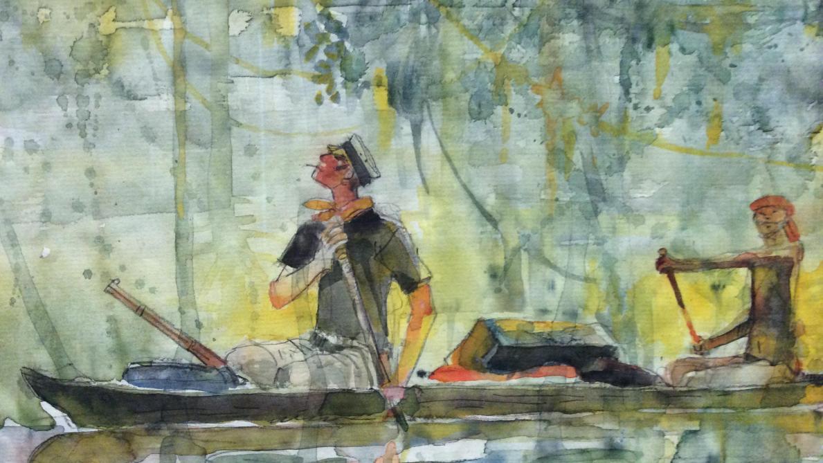 36626c0505d Corto Maltese noyé dans l aquarelle de ses Mémoires. - Cong S.A. 2018.
