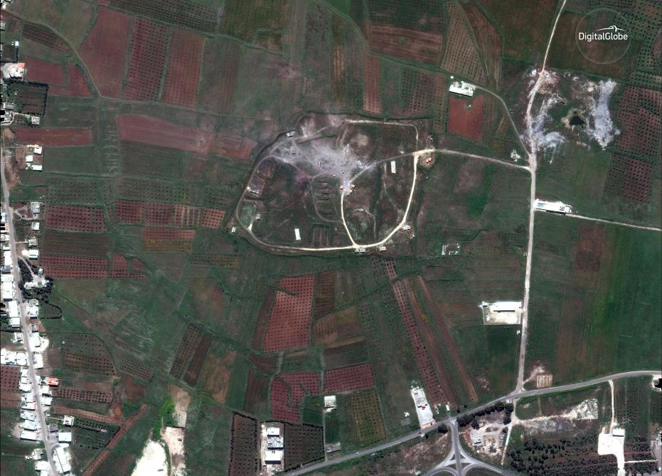 Interception de missiles au dessus de la province de Homs — Syrie