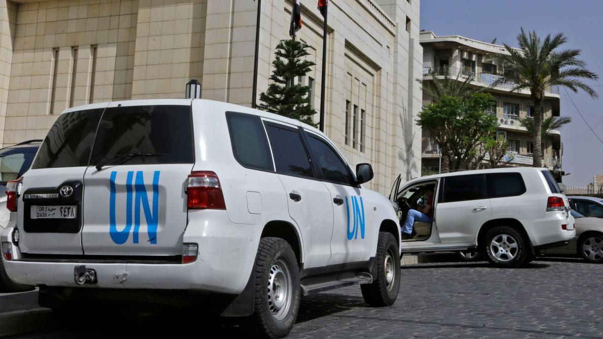 Une équipe d'enquête sur les armes chimiques visite Douma en Syrie