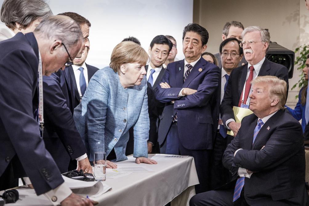 la photo de donald trump au g7 qui fait rire les internautes