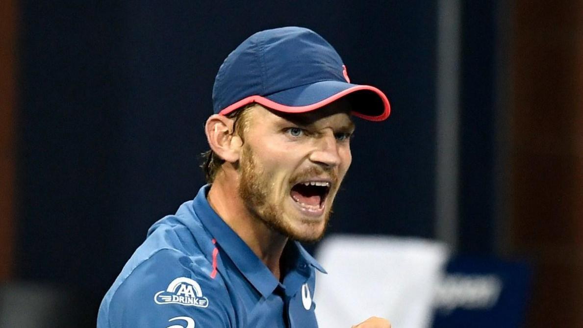David Goffin contre Cilic en huitièmes de finale de l'US Open