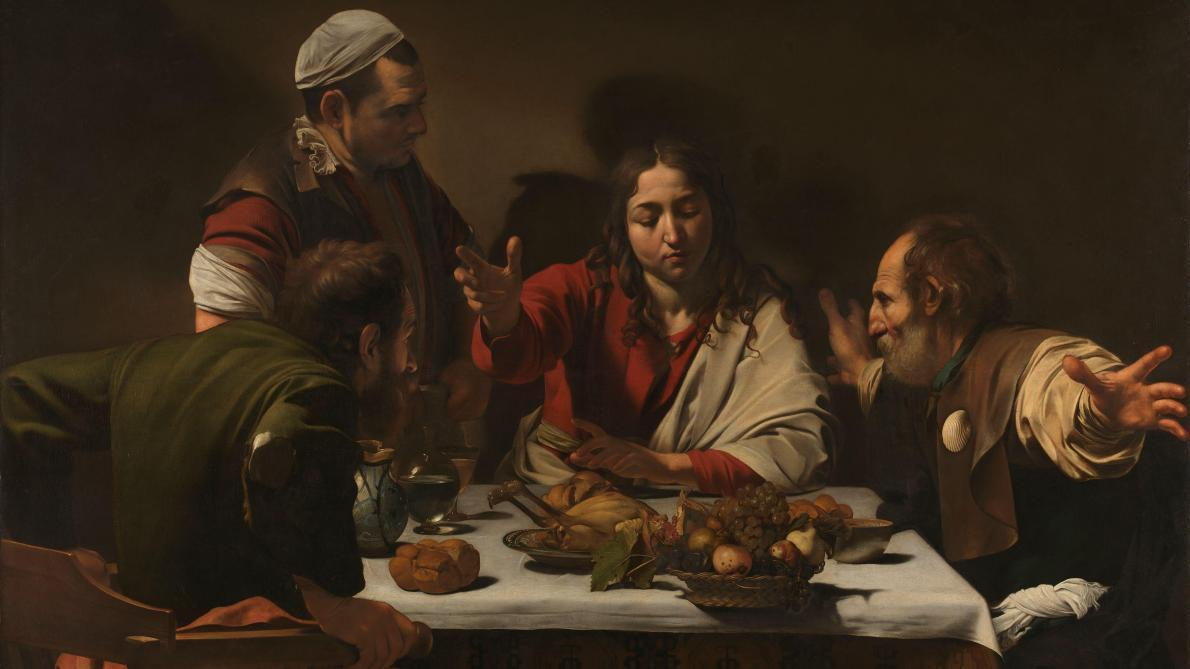 © Michelangelo Merisi da Caravaggio « Le souper à Emmaüs ». © The National Gallery, London.
