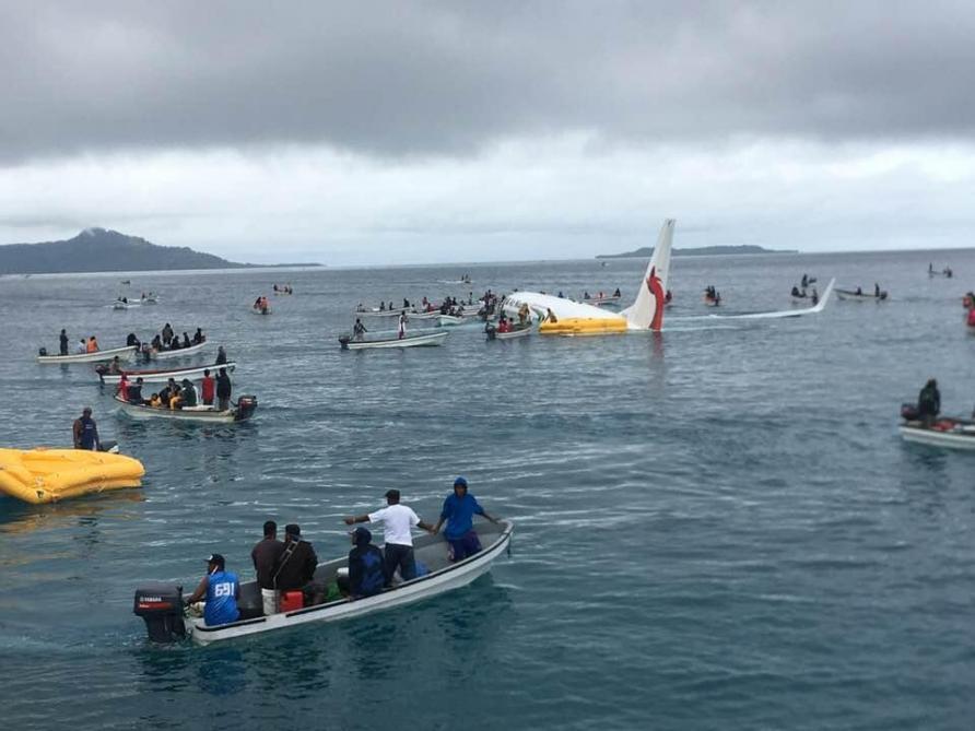 Un avion plonge dans un lagon du Pacifique, aucun blessé