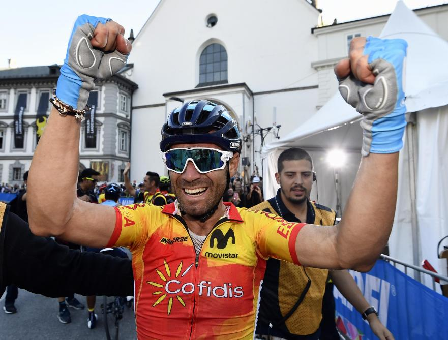 L'Espagnol Valverde est Champion du monde de cyclisme