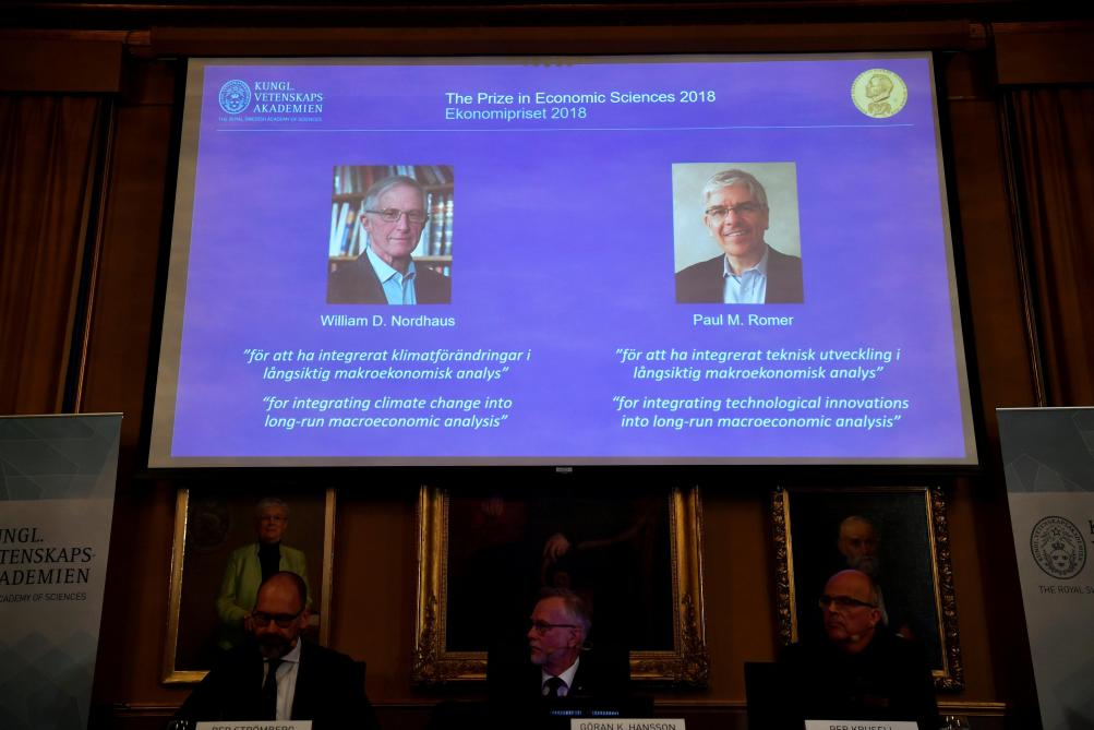 William Nordhaus et Paul Romer décrochent le Nobel en sciences économiques