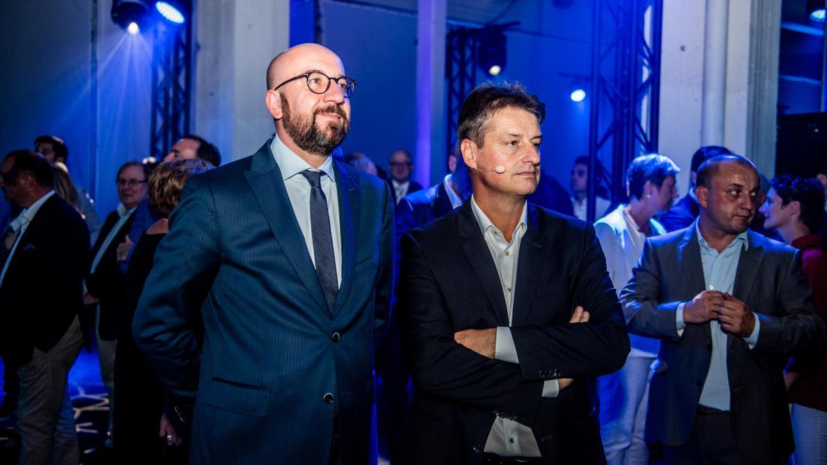 POLITIQUE › Charles Michel prend la présidence du MR, Olivier Chastel tête de liste à l'Europe … LE SOIR