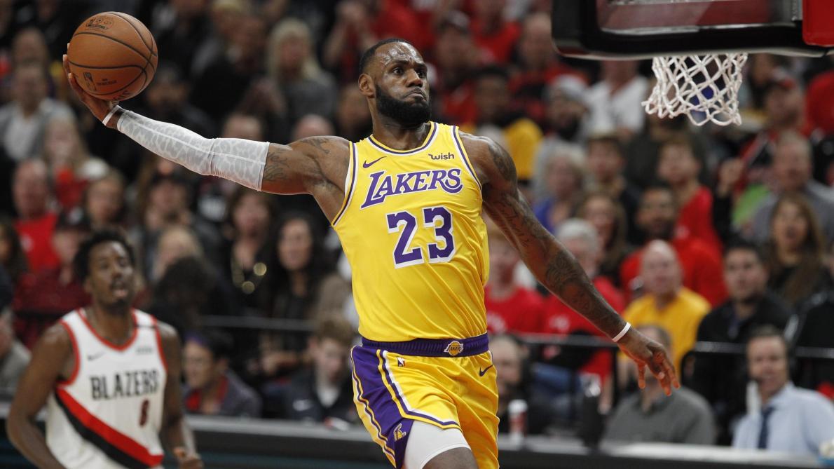 09ee4b688dc NBA  LeBron James battu pour ses débuts avec les Lakers - Le Soir