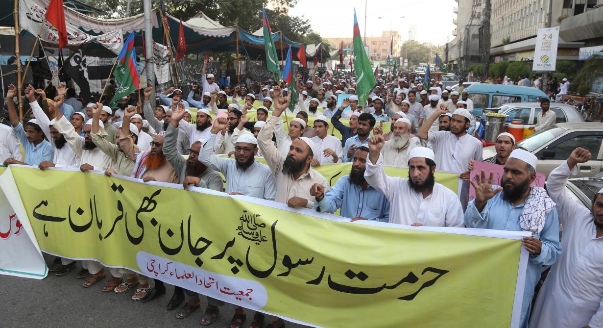 Pakistan  troisième jour de manifestation contre l acquittement d Asia  Bibi, condamnée à mort pour blasphème - Le Soir 5cb08a4b220
