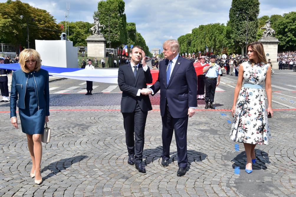 À Paris, Trump dénonce les propos