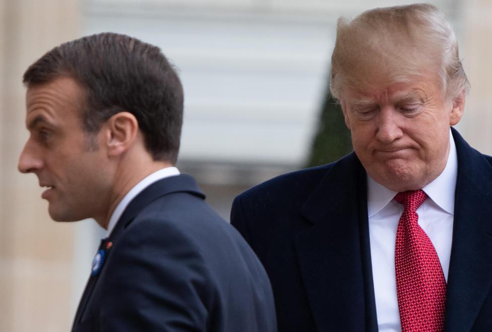 Pour Donald Trump La Vengeance Contre Emmanuel Macron Se Mange