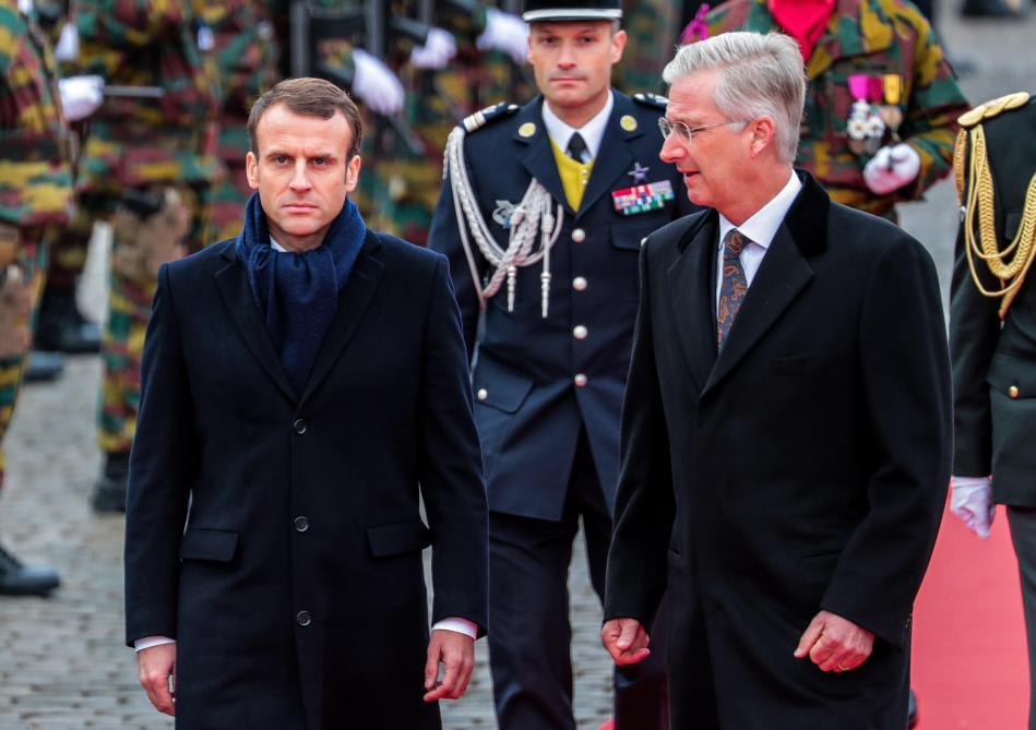 Visite DEtat De Macron En Belgique Les Images Son Arrivee A