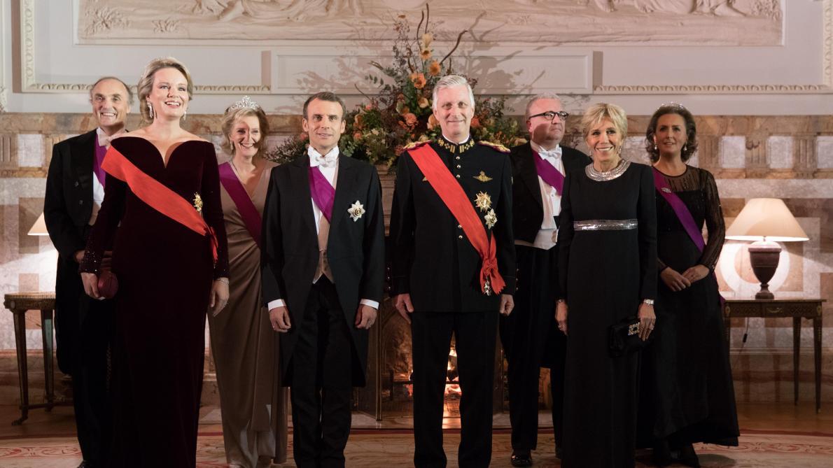 Le Couple Macron Invit Par Roi Au Banquet DEtat Ce Lundi Soir Laeken Photos