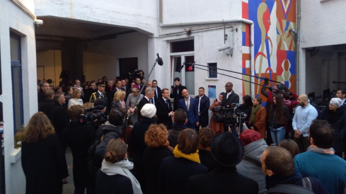 Emmanuel Macron et le roi Philippe sont arrivés à Molenbeek