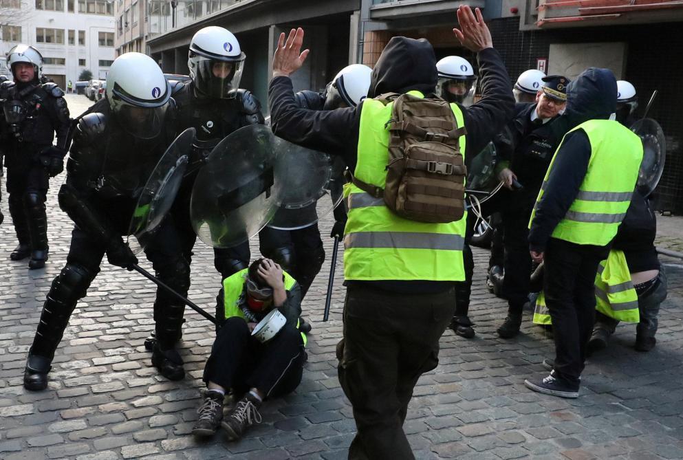 Belgique. Gilets jaunes à Bruxelles : des incidents lors d'une manifestation