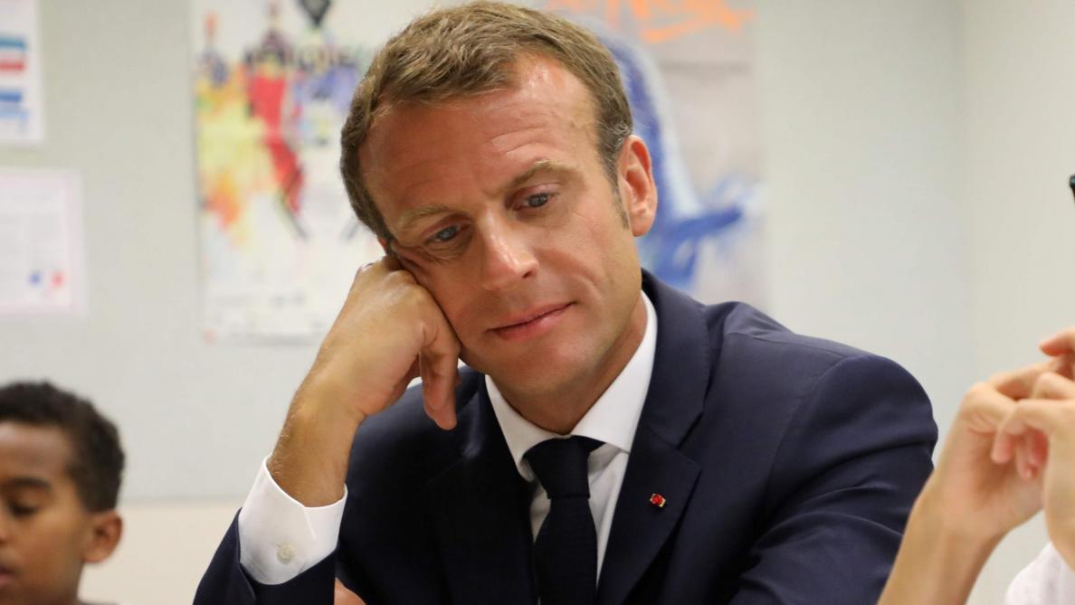 Visite surprise d'Emmanuel Macron à Soissons
