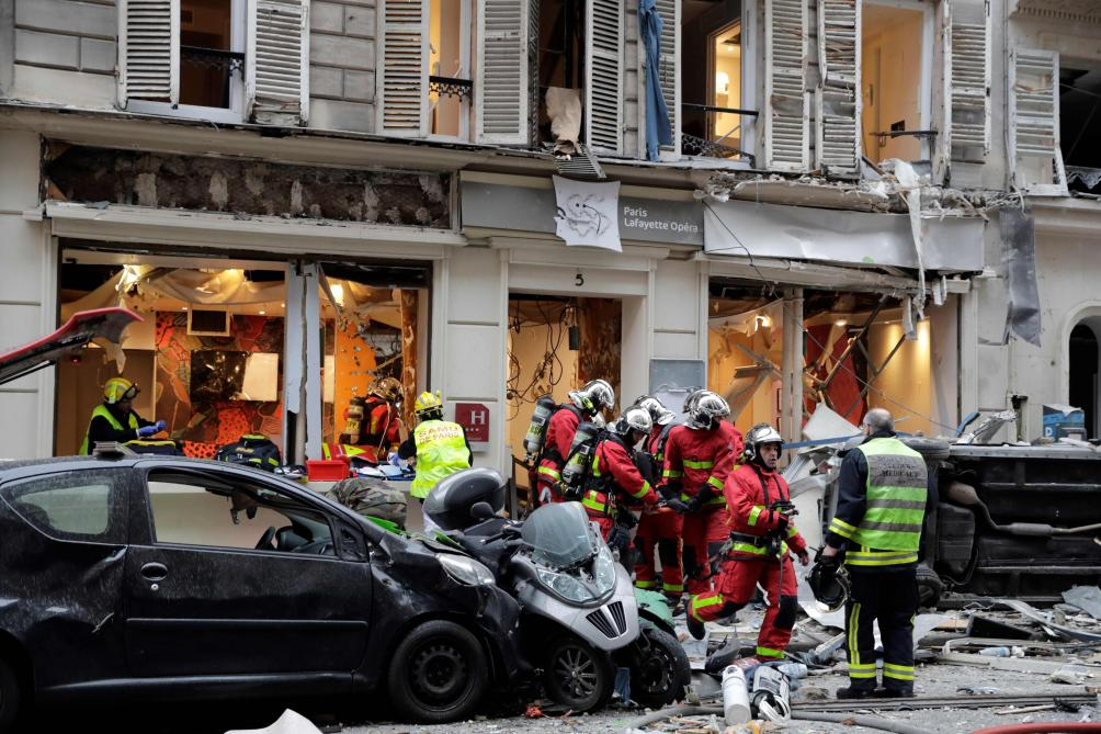 Forte explosion à Paris (Photos)