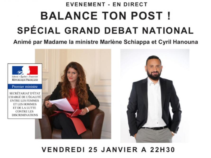 Marlène Schiappa va animer une émission avec Cyril Hanouna — Grand débat national