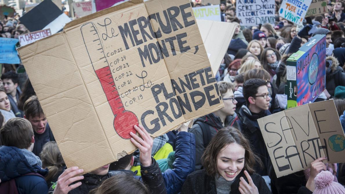 Les meilleurs slogans de la marche pour le climat à Bruxelles