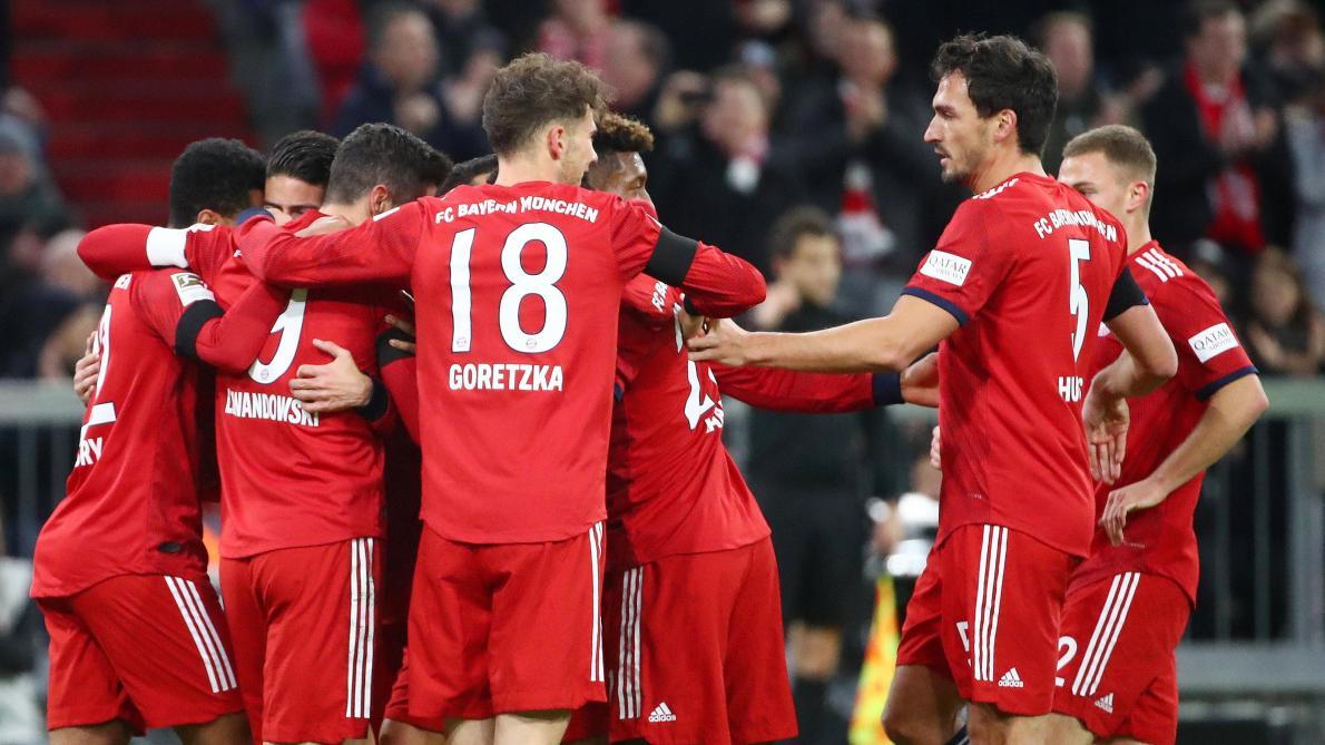 d09a8ccac2 Bundesliga: le Bayern se rassure et revient à cinq points de Dortmund (3-1,  vidéos) - Le Soir