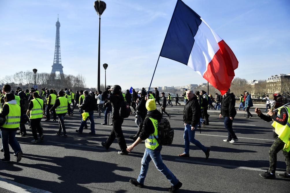 41500 manifestants en France samedi, dont 5000 à Paris — Gilets jaunes