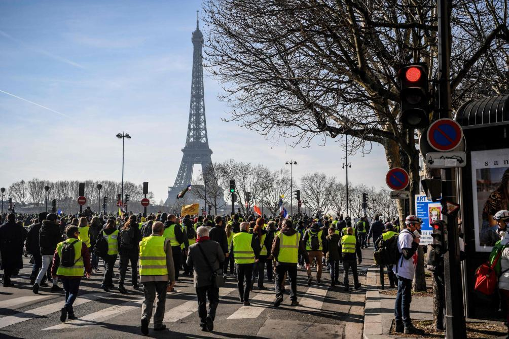 «Gilets jaunes»: 41.500 manifestants en France samedi, dont 5.000 à Paris