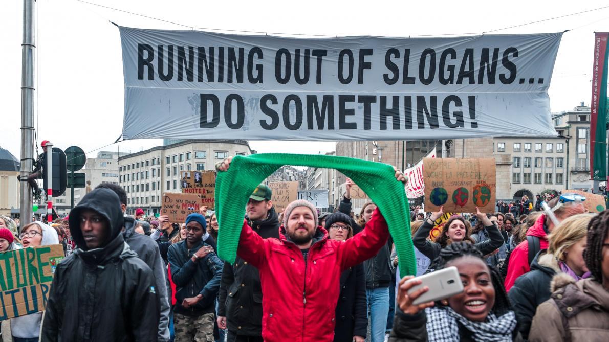 ea198a8667b les slogans les plus forts de la grève mondiale du climat - Le Soir