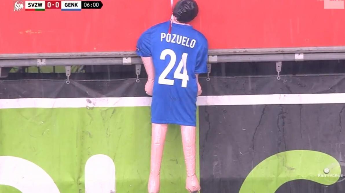 : Genk condamne la poupée pendue avec le maillot de Pozuelo: «Totalement inacceptable»