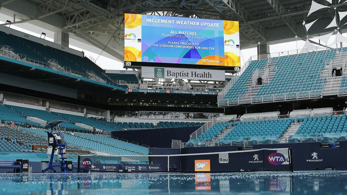 : ATP/WTA Miami: la journée annulée en raison de la pluie