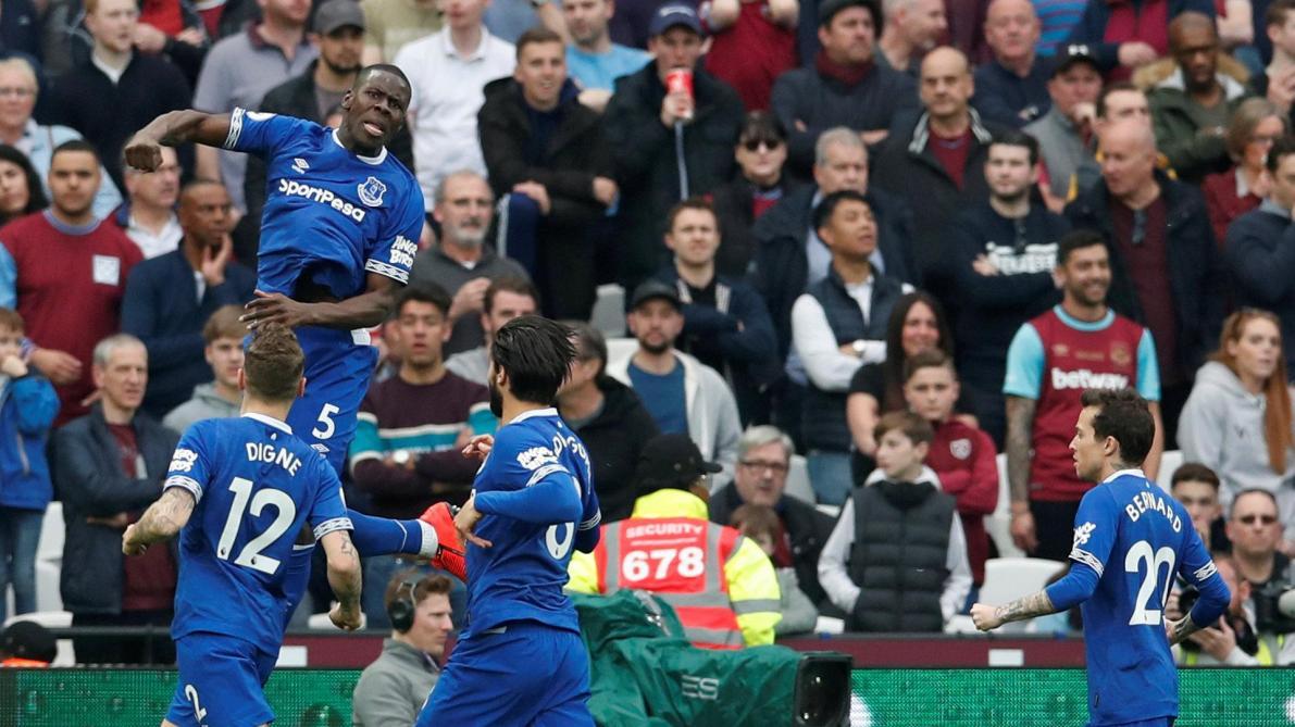 Everton bat West Ham et le dépasse au classement