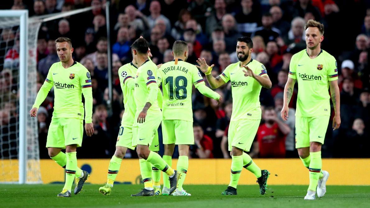 arcelone s'impose à Manchester United (0-1), la Juventus tenue en échec sur la pelouse de l'Ajax (1-1)