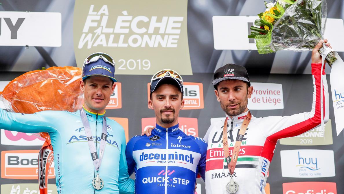 Julian Alaphilippe remporte à nouveau la Flèche wallonne: «Cette course me tenait à cœur» (vidéo)
