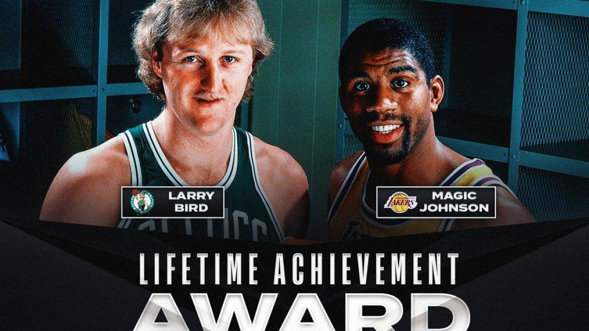 NBA: Larry Bird et Magic Johnson distingués pour leur carrière commune