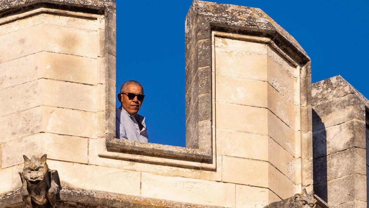 Les images de la famille Obama en vacances à Avignon
