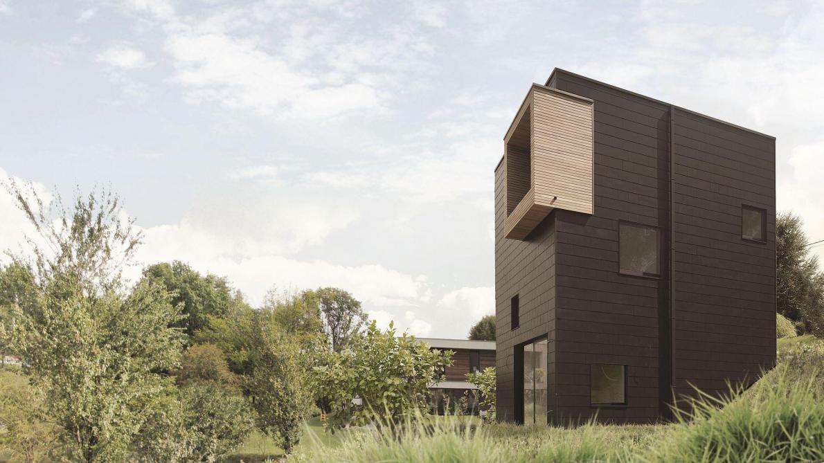 Maison Bois Architecte Pas Cher architecte: une maison compacte pour moins consommer - le soir