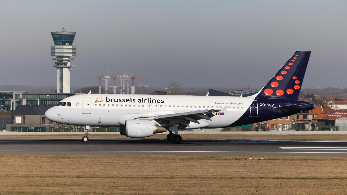 Avion de Brussels Airlines à l'aéroport de Bruxelles
